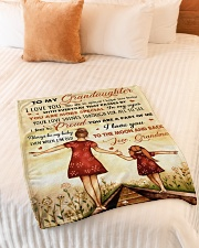 """I LOVE YOU - BEST GIFT FOR GRANDDAUGHTER  Small Fleece Blanket - 30"""" x 40"""" aos-coral-fleece-blanket-30x40-lifestyle-front-01"""