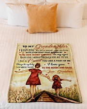 """I LOVE YOU - BEST GIFT FOR GRANDDAUGHTER  Small Fleece Blanket - 30"""" x 40"""" aos-coral-fleece-blanket-30x40-lifestyle-front-04"""