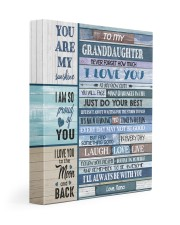 JUST DO YOUR BEST - NANA TO MY GRANDDAUGHTER 11x14 Gallery Wrapped Canvas Prints front