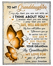 "I THINK ABOUT YOU - GRANDMA TO GRANDDAUGHTER Small Fleece Blanket - 30"" x 40"" front"