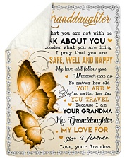 "I THINK ABOUT YOU - GRANDMA TO GRANDDAUGHTER Large Sherpa Fleece Blanket - 60"" x 80"" thumbnail"