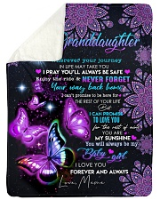 """BUTTERFLY WAY BACK HOME - MEME TO GRANDDAUGHTER Large Sherpa Fleece Blanket - 60"""" x 80"""" thumbnail"""