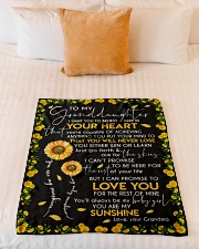 "YOU ARE MY SUNSHINE - GRANDMA TO GRANDDAUGHTER Small Fleece Blanket - 30"" x 40"" aos-coral-fleece-blanket-30x40-lifestyle-front-04"