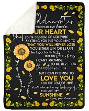 "YOU ARE MY SUNSHINE - GRANDMA TO GRANDDAUGHTER Large Sherpa Fleece Blanket - 60"" x 80"" thumbnail"