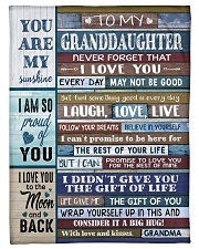 "FOLLOW YOUR DREAMS - GRANDMA TO GRANDDAUGHTER Small Fleece Blanket - 30"" x 40"" front"
