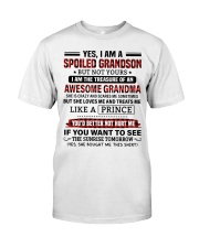 YES I AM A SPOILED GRANDSON Premium Fit Mens Tee tile