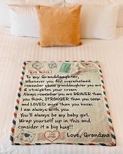 "STRAIGHTEN YOUR CROWN - GRANDMA TO GRANDDAUGHTER Small Fleece Blanket - 30"" x 40"" aos-coral-fleece-blanket-30x40-lifestyle-front-04"