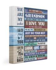 JUST DO YOUR BEST - GIFT FROM GRANDMA TO GRANDSON 11x14 Gallery Wrapped Canvas Prints front