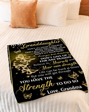"BELIEVE IN YOURSELF - GRANDMA TO GRANDDAUGHTER Small Fleece Blanket - 30"" x 40"" aos-coral-fleece-blanket-30x40-lifestyle-front-01"