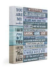 I WILL LOVE YOU - AMAZING GIFT FOR GRANDDAUGHTER 11x14 Gallery Wrapped Canvas Prints front