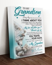 I THINK ABOUT YOU - LOVELY GIFT FOR GRANDSON 11x14 Gallery Wrapped Canvas Prints aos-canvas-pgw-11x14-lifestyle-front-17