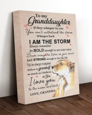 LISTEN TO YOUR HEART - GRANDMA TO GRANDDAUGHTER 11x14 Gallery Wrapped Canvas Prints aos-canvas-pgw-11x14-lifestyle-front-17