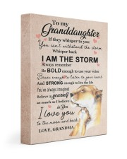 LISTEN TO YOUR HEART - GRANDMA TO GRANDDAUGHTER 11x14 Gallery Wrapped Canvas Prints front
