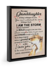 LISTEN TO YOUR HEART - GRANDMA TO GRANDDAUGHTER 11x14 Black Floating Framed Canvas Prints thumbnail