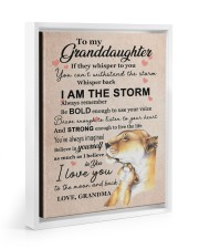 LISTEN TO YOUR HEART - GRANDMA TO GRANDDAUGHTER 11x14 White Floating Framed Canvas Prints thumbnail