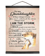 LISTEN TO YOUR HEART - GRANDMA TO GRANDDAUGHTER 12x16 Black Hanging Canvas thumbnail