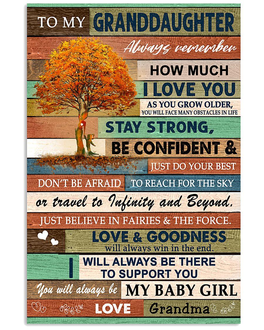 I LOVE YOU - LOVELY GIFT FOR GRANDDAUGHTER 11x17 Poster