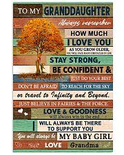 I LOVE YOU - LOVELY GIFT FOR GRANDDAUGHTER 11x17 Poster front