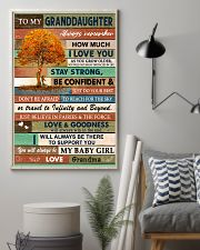 I LOVE YOU - LOVELY GIFT FOR GRANDDAUGHTER 11x17 Poster lifestyle-poster-1