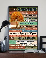 I LOVE YOU - LOVELY GIFT FOR GRANDDAUGHTER 11x17 Poster lifestyle-poster-2
