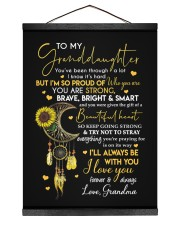 ALWAYS BE WITH YOU - GRANDMA TO GRANDDAUGHTER 12x16 Black Hanging Canvas thumbnail