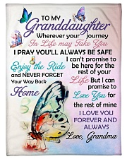 """I LOVE YOU - GRANDDAUGHTER GIFT WITH BUTTERFLY Small Fleece Blanket - 30"""" x 40"""" front"""