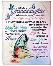 I LOVE YOU - GRANDDAUGHTER GIFT WITH BUTTERFLY Fleece Blanket tile