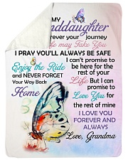 """I LOVE YOU - GRANDDAUGHTER GIFT WITH BUTTERFLY Large Sherpa Fleece Blanket - 60"""" x 80"""" thumbnail"""