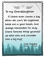 "I'LL STAY THERE FOREVER - GRANDMA TO GRANDDAUGHTER Small Fleece Blanket - 30"" x 40"" front"