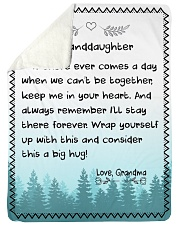 "I'LL STAY THERE FOREVER - GRANDMA TO GRANDDAUGHTER Large Sherpa Fleece Blanket - 60"" x 80"" thumbnail"