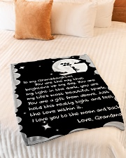 """THE RAY BRIGHTENS UP MY DAY GIFT FOR GRANDDAUGHTER Small Fleece Blanket - 30"""" x 40"""" aos-coral-fleece-blanket-30x40-lifestyle-front-01"""