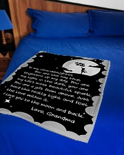 """THE RAY BRIGHTENS UP MY DAY GIFT FOR GRANDDAUGHTER Small Fleece Blanket - 30"""" x 40"""" aos-coral-fleece-blanket-30x40-lifestyle-front-02"""