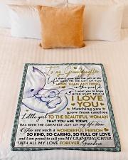 "I LOVE YOU - GRANDMA TO GRANDDAUGHTER Small Fleece Blanket - 30"" x 40"" aos-coral-fleece-blanket-30x40-lifestyle-front-04"