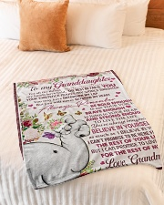 "FOR ALL THE THINGS - GRANDMA TO GRANDDAUGHTER Small Fleece Blanket - 30"" x 40"" aos-coral-fleece-blanket-30x40-lifestyle-front-01"