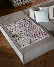 """FOR ALL THE THINGS - GRANDMA TO GRANDDAUGHTER Small Fleece Blanket - 30"""" x 40"""" aos-coral-fleece-blanket-30x40-lifestyle-front-03"""