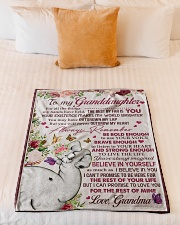 """FOR ALL THE THINGS - GRANDMA TO GRANDDAUGHTER Small Fleece Blanket - 30"""" x 40"""" aos-coral-fleece-blanket-30x40-lifestyle-front-04"""