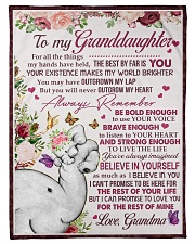 """FOR ALL THE THINGS - GRANDMA TO GRANDDAUGHTER Small Fleece Blanket - 30"""" x 40"""" front"""