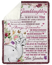 "FOR ALL THE THINGS - GRANDMA TO GRANDDAUGHTER Large Sherpa Fleece Blanket - 60"" x 80"" thumbnail"