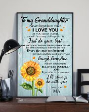 JUST DO YOUR BEST - TO GRANDDAUGHTER FROM MA 11x17 Poster lifestyle-poster-2