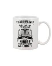 I NEVER DREAMED - A GRUMPY OLD NURSE Mug tile