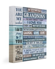 I LOVE YOU - SPECIAL GIFT FOR GRANDSONS FROM MEME 11x14 Gallery Wrapped Canvas Prints front