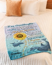"""LIFE IS LIKE THE OCEAN NICE GIFT FOR GRANDDAUGHTER Small Fleece Blanket - 30"""" x 40"""" aos-coral-fleece-blanket-30x40-lifestyle-front-01"""