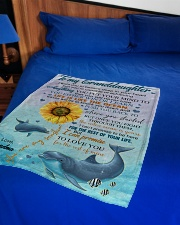 """LIFE IS LIKE THE OCEAN NICE GIFT FOR GRANDDAUGHTER Small Fleece Blanket - 30"""" x 40"""" aos-coral-fleece-blanket-30x40-lifestyle-front-02"""