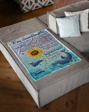 """LIFE IS LIKE THE OCEAN NICE GIFT FOR GRANDDAUGHTER Small Fleece Blanket - 30"""" x 40"""" aos-coral-fleece-blanket-30x40-lifestyle-front-03"""