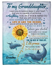 """LIFE IS LIKE THE OCEAN NICE GIFT FOR GRANDDAUGHTER Small Fleece Blanket - 30"""" x 40"""" front"""