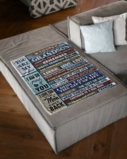 "FOLLOW YOUR DREAMS - GRADMA TO GRANDSON Small Fleece Blanket - 30"" x 40"" aos-coral-fleece-blanket-30x40-lifestyle-front-03"