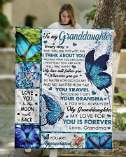 """I THINK ABOUT YOU - BEST GIFT FOR GRANDDAUGHTER Quilt 50""""x60"""" - Throw aos-quilt-50x60-lifestyle-front-01"""