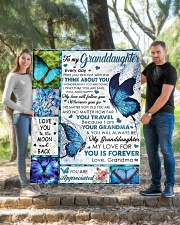 """I THINK ABOUT YOU - BEST GIFT FOR GRANDDAUGHTER Quilt 50""""x60"""" - Throw aos-quilt-50x60-lifestyle-front-04"""