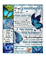 """I THINK ABOUT YOU - BEST GIFT FOR GRANDDAUGHTER Quilt 50""""x60"""" - Throw front"""