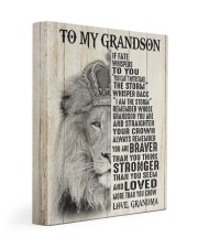 STRAIGHTEN YOUR CROWN LOVELY GIFT FOR GRANDSON 11x14 Gallery Wrapped Canvas Prints front